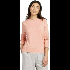 A New Day Raglan Sleeve Sweatshirt Size M Pink